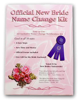 The Official New Bride Name Change Kit
