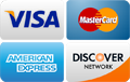 We accept Visa, Discover, MasterCard and American Express